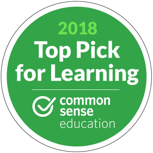 Logo Top 10 Pick for Learning - Common Sense Education